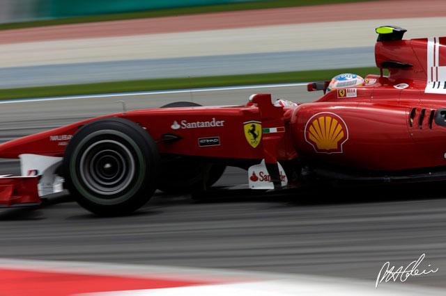 Fernando Alonso en Malasia 2010