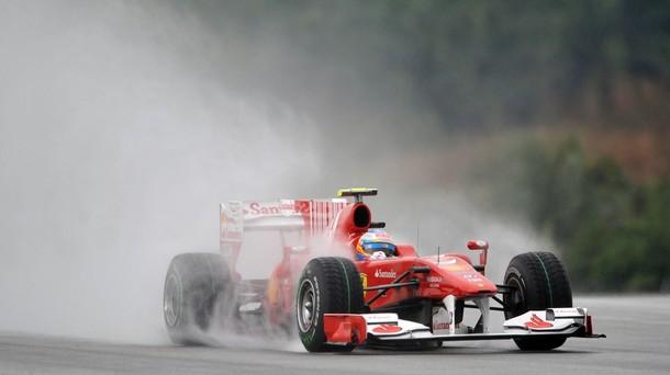 Fernando Alonso en la calificación del GP de Malasia 2010