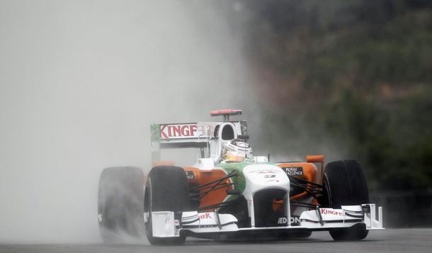 Adrian Sutil en la calificación del GP de Malasia 2010