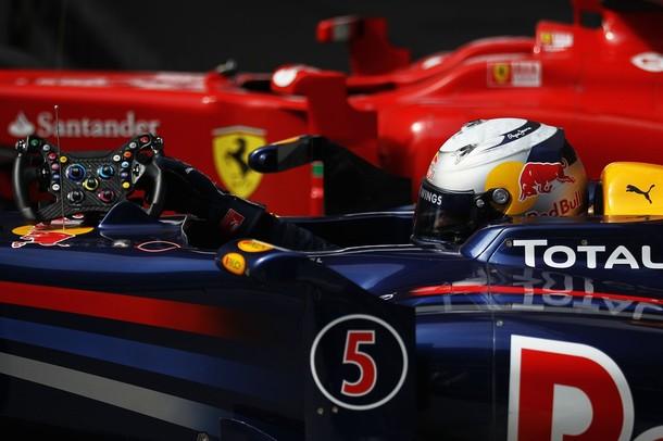 Sebastian Vettel, tras lograr la pole position en el GP de China 2010