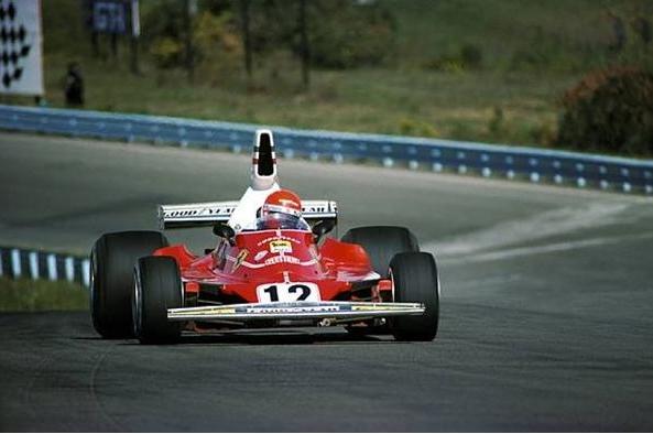Niki Lauda con el Ferrari 312T durante el GP de EE.UU. de 1975