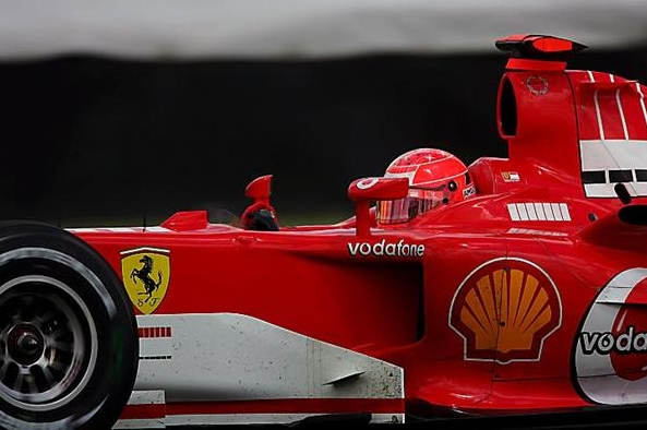 Michael Schumacher durante el GP de EE.UU. 2005