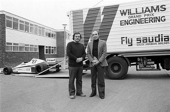 Patrick Head y Frank Williams en 1978