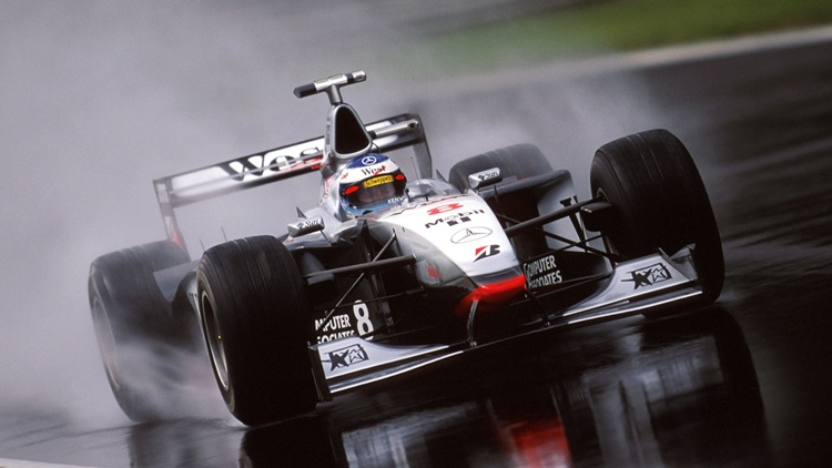 Mika Hakkinen durante el GP de Italia de 1998