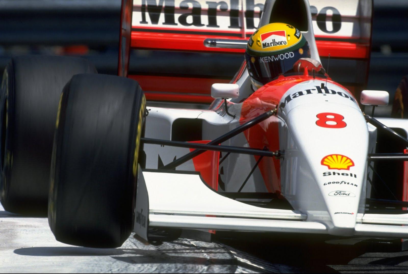 Ayrton Senna durante el GP de Mónaco de 1993