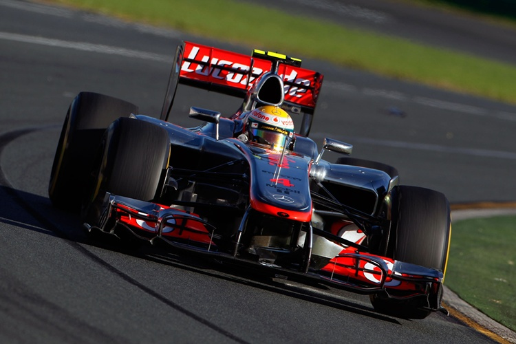 Lewis Hamilton durante el GP de Australia de 2012