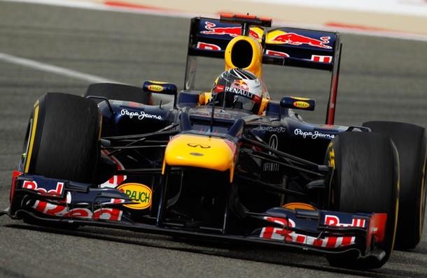 Sebastian Vettel en la calificación del GP de Baréin 2012