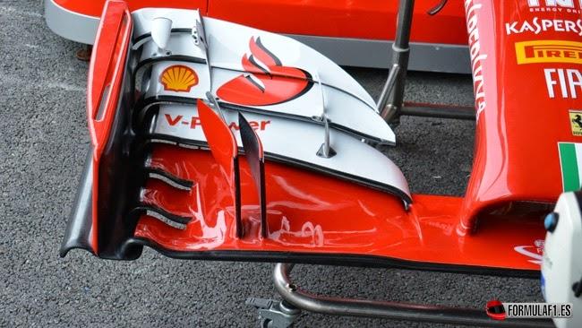 Alerón delantero del Ferrari F14T en Spa 2014