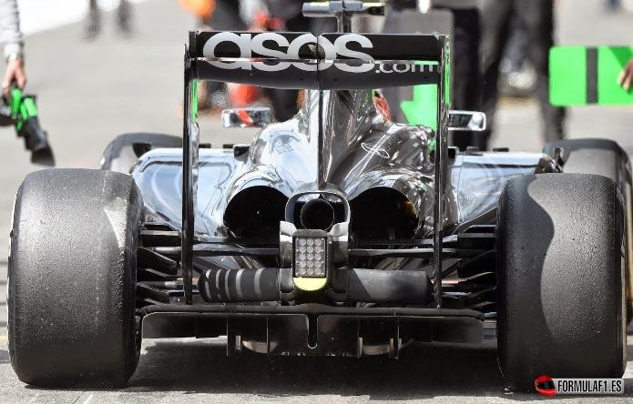 Parte trasera del McLaren en Spa 2014