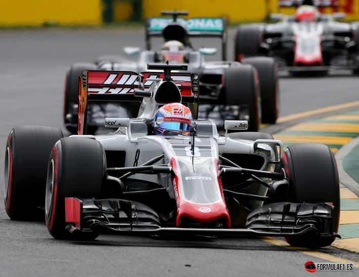 Grosjean. GP Australia 2016