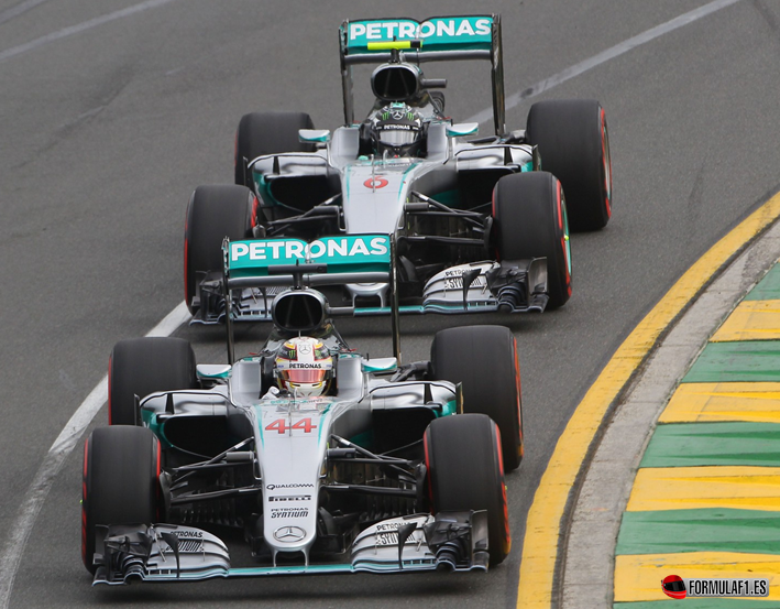Mercedes. Calificación GP de Australia 2016