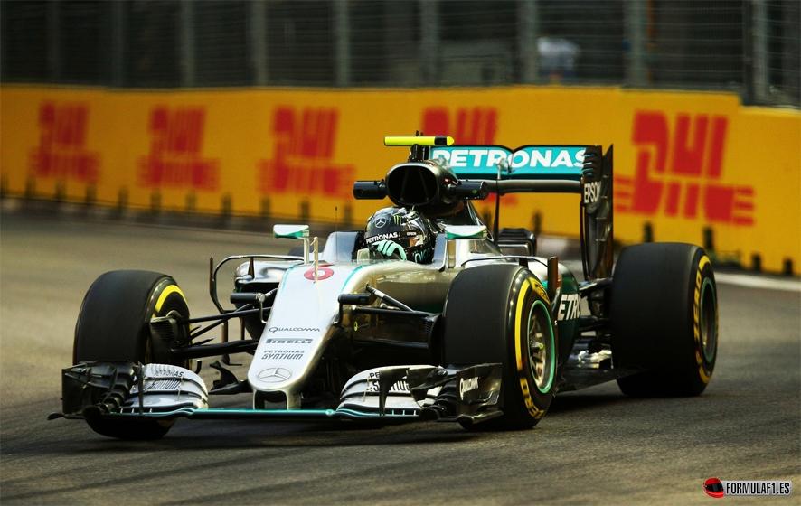 GP de Singapur 2016- Libres 2: Rosberg en cabeza tras los problemas de Hamilton