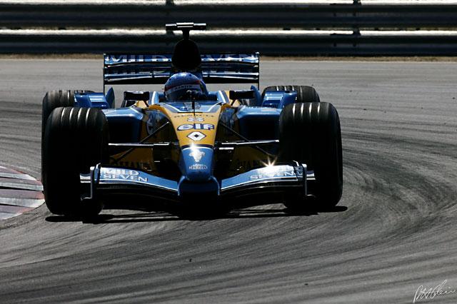 Fernando Alonso durante el GP de Hungría 2003