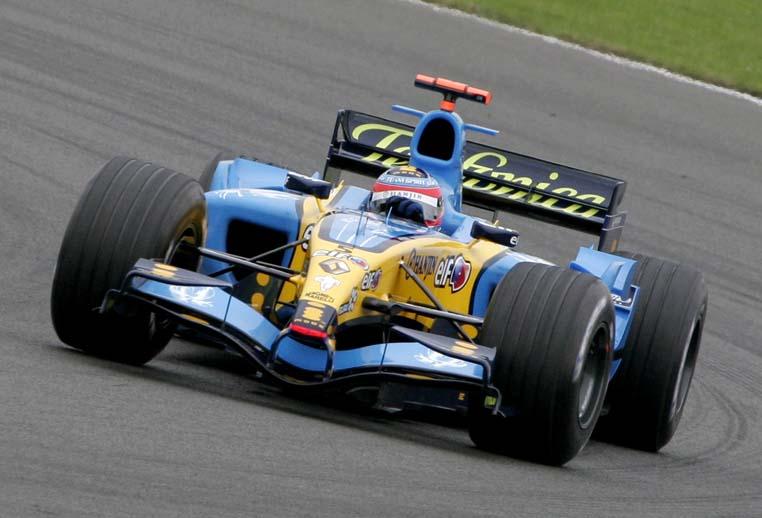 Fernando Alonso en el GP de Gran Bretaña 2005