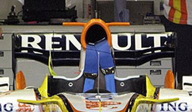 detalle aleron W ala gaviota R28 Renault - Formula 1 - Formula F1