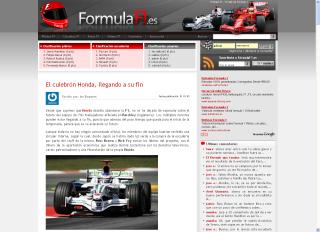 ¡Bienvenidos a la nueva FormulaF1!
