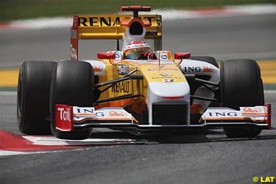 Alonso en el Gran Premio de España de 2009