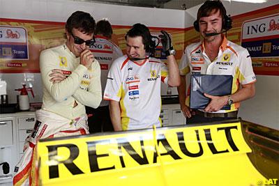 No parece haber mucha preocupación en el box de Renault