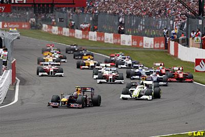 Desde la salida, Vettel lo vio claro