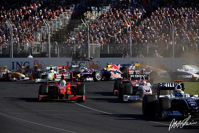 Salida del Gran Premio de Australia del 2009