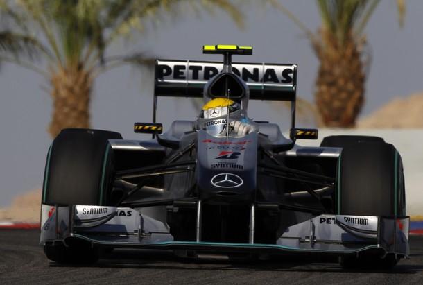 Nico Rosberg, durante el Gran Premio de Bahrein 2010