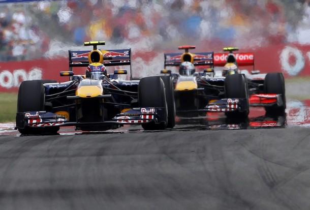 Webber, Vettel y Hamilton durante el GP de Turquía 2010