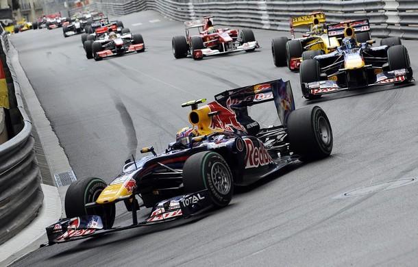 Mark Webber lidera las primeras vueltas del GP de Mónaco 2010