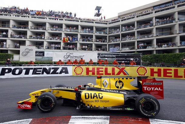 Robert Kubica durante el GP de Mónaco 2010