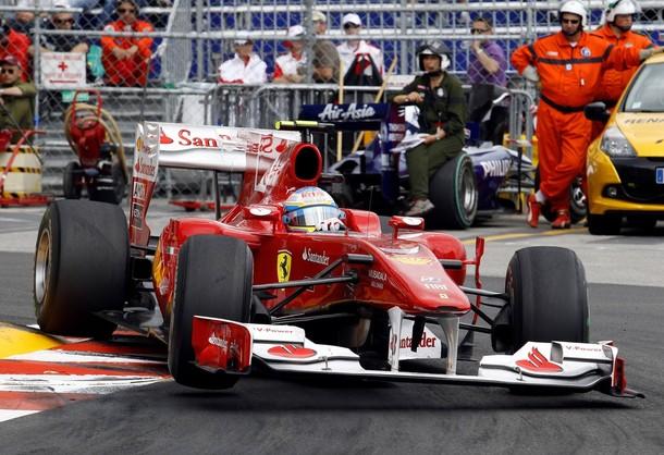 Fernando Alonso durante el GP de Mónaco 2010