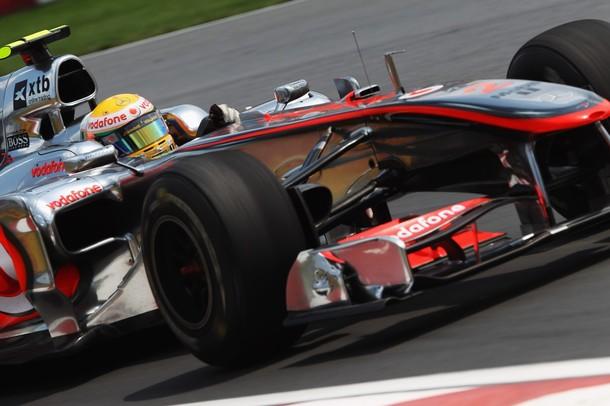 Lewis Hamilton durante el GP de Canadá 2010