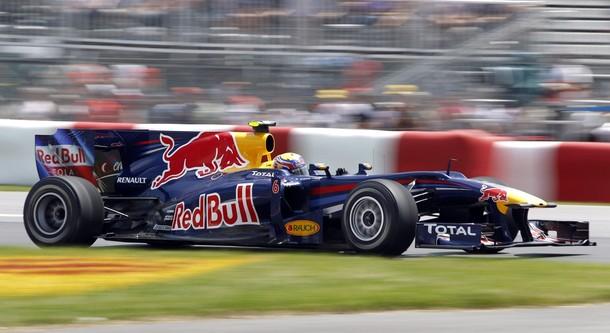 Mark Webber durante el GP de Canadá 2010