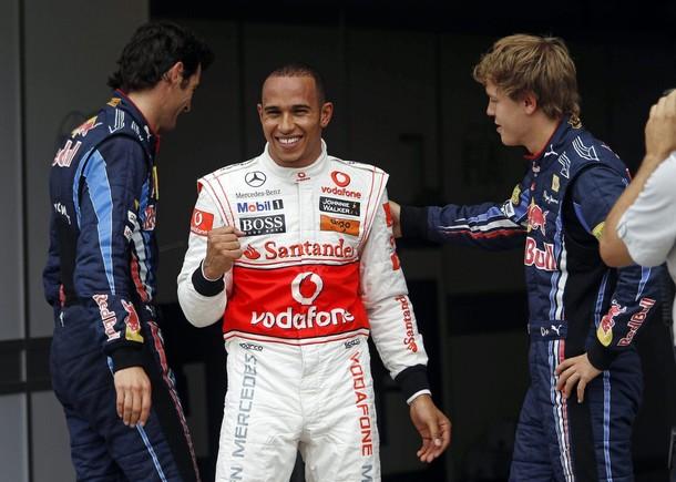 Lewis Hamilton celebra su Pole Position en el GP de Canadá 2010