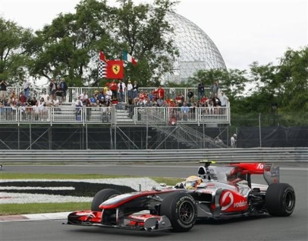 Lewis Hamilton durante la calificación del GP de Canadá 2010