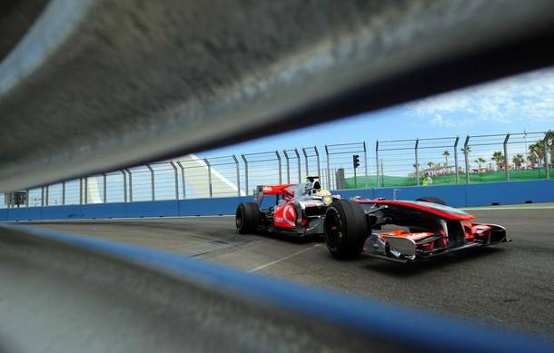 Lewis Hamilton durante el GP de Europa 2010