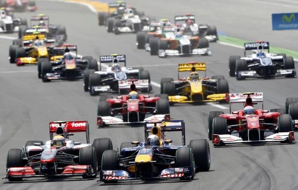 Salida del GP de Europa 2010