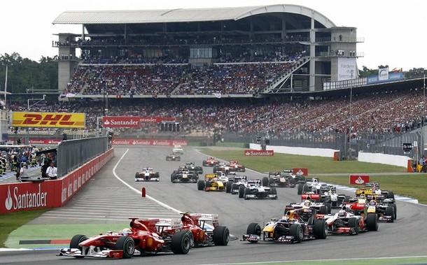 Salida del GP de Alemania 2010