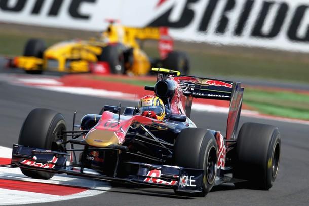 Jaime Alguersuari durante el GP de Gran Bretaña 2010