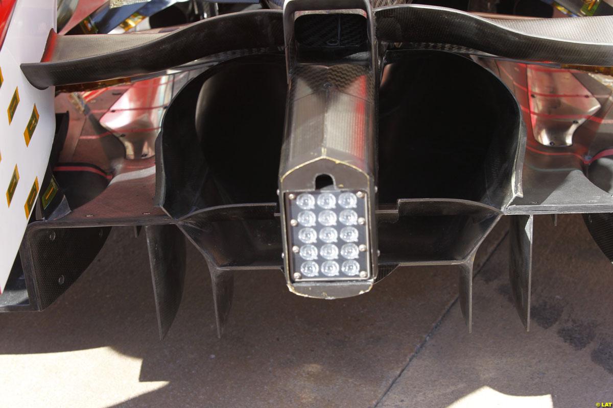 Difusor del Ferrari F10B