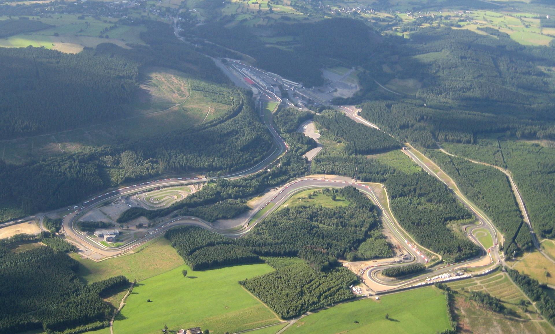 Imagen aérea de Spa-Francorchamps