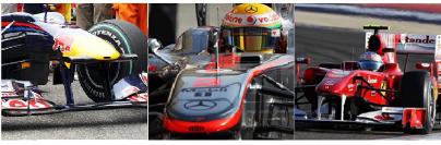 Red Bull, McLaren y Ferrari