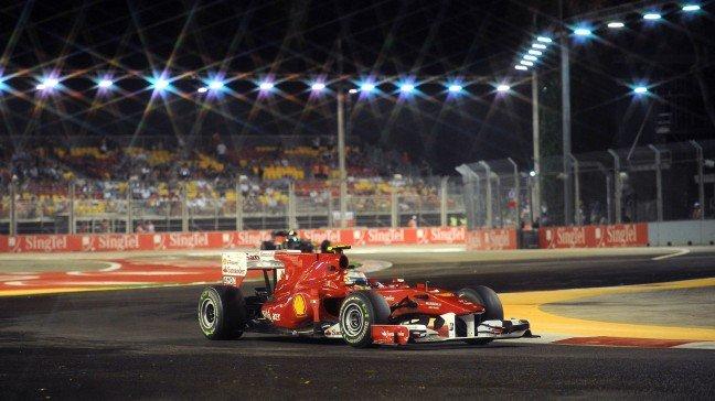 Fernando Alonso en Singapur 2010