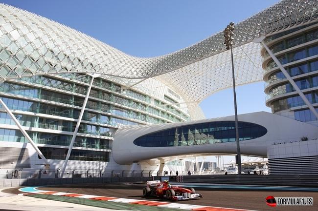Fernando Alonso en el Circuito de Abu Dabi