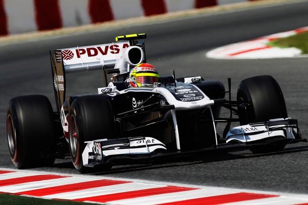 Pastor Maldonado durante la calificación del GP de España 2011