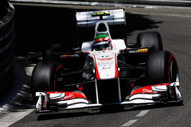 Sergio Perez en la calificación del GP de Mónaco 2011