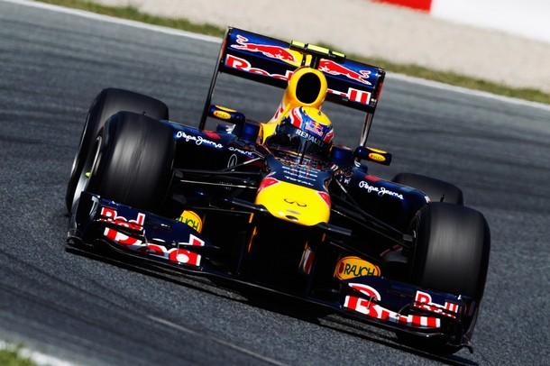 Mark Webber en la calificación del GP de España 2011