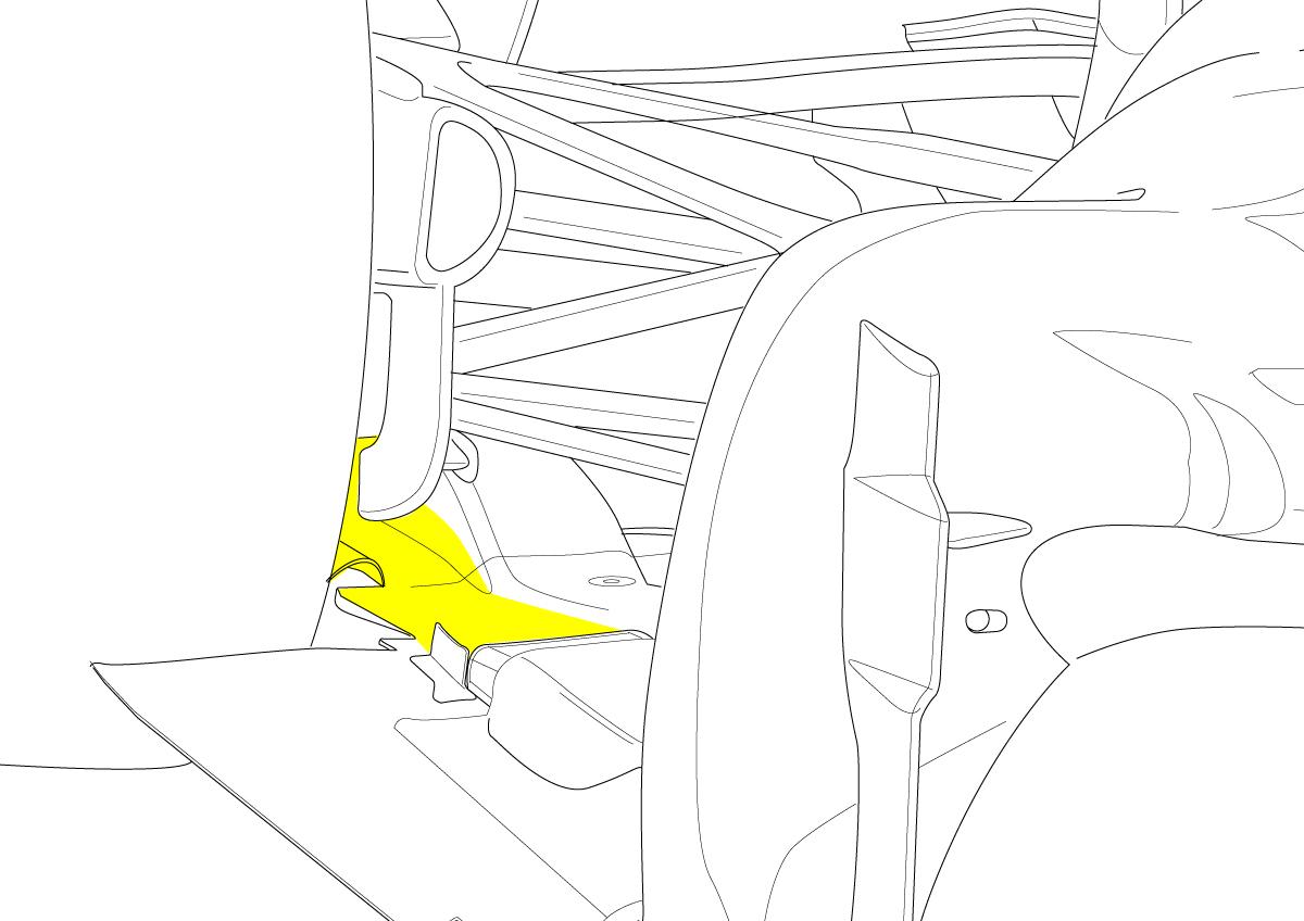 Difusor soplado del Ferrari F150
