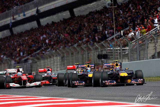 Salida del GP de España 2010