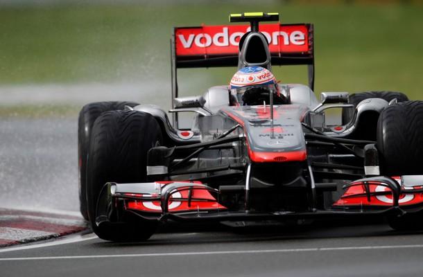 Jenson Button durante el GP de Canadá 2011