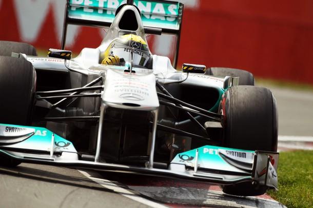 Nico Rosberg en la calificación del GP de Canadá 2011