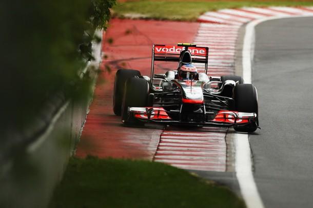 Jenson Button en la calificación del GP de Canadá 2011